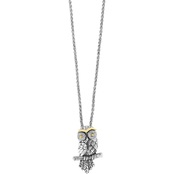 Effy 1/10 CTW Diamond Sterling Silver and 18K Yellow Gold Pendant