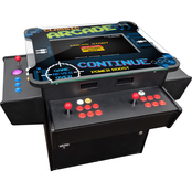 Creative 3 Sided 2 Person Cocktail Table Trackball Machine with 1,162 Classic Games