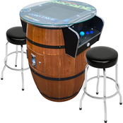 Creative 2 Person Barrel Style Stand Up Arcade Machine with 60 Classic Games