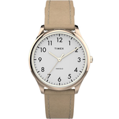 Timex Women's Modern Easy Reader Leather Strap Watch 32mm TW2T72400JT