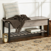 Walker Edison 48 in. Modern Farmhouse Storage Bench