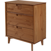 Walker Edison 3 Drawer Mid Century Modern Wood Dresser