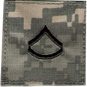 PFC ACU Rank with Velcro 2 pc.