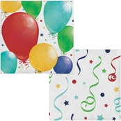 Sensations Hip Hip Hooray Beverage Napkins 24 ct.