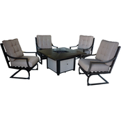 Summerville Furnishings Wilmer 5 pc. Deep Seating Fire Pit Set
