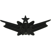 Air Force Senior Space Command Badge Sta-Black, Pin-On, Miniature