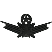 Air Force Master Space Command Badge, Sta-Black, Pin-On, Regular Size