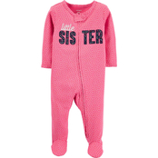Carter's Infant Girls Little Sister Zip Up Sleep and Play