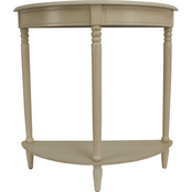Decor Therapy Simplify Half Round Accent Table