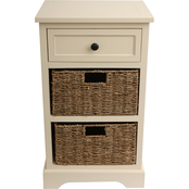 Decor Therapy Montgomery 1 Drawer, 2 Basket Accent Chest