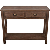 Decor Therapy Vintage Distressed Wood Console Table