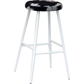 National Brand 29 in. Cow Print Bar Stool