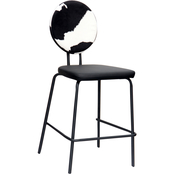 National Brand 29 in. Cow Print Counter Stool