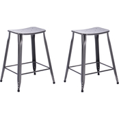 National Brand Lennon Saddle Backless Barstool 2 pk.