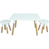 National Brand Kids Dipped Table and Stool 3 pc. Set