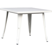 National Brand White Steel Kids Table