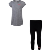 Nike Little Girls Confetti Tee and Leggings 2 pc. Set