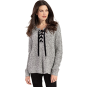 Tribal Lace Up Neck Sweater