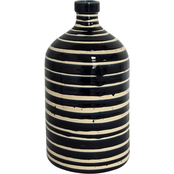 Simply Perfect Indigo Striped Ceramic Vase