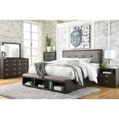 Signature Design by Ashley Hyndell Storage Bed 5 pc. Set