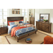 Signature Design by Ashley Lakeleigh Crossbuck 5 pc. Bedroom Set