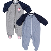 Gerber Infant Boys Zip Up Sleep N' Play 2 pk., Size Newborn