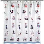 Avanti Holiday Dogs Shower Curtain