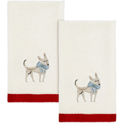 Avanti Holiday Dogs Fingertip Towels 2 pk.