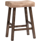 Hillsdale Saddle Backless Barstool