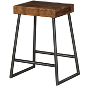 Hillsdale Emerson Manufactured Live Edge Square Backless Counter Stool