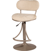 Hillsdale Athena Swivel Adjustable Height Stool Metal Finish