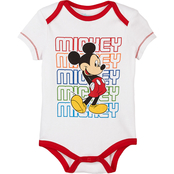Disney Infant Boys Mickey Mouse Red Creeper 2 pk.