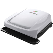 George Foreman 4 Serving Removable Plate and Panini Grill, Platinum