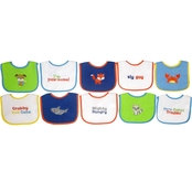 Neat Solutions Infants Water Resistant Feeder Bib Assortment 10 Pk.