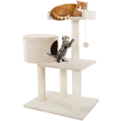 Petmaker 3 Tier Cat Tree with Condo And Scratching Posts
