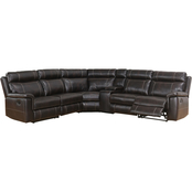 Abbyson Montana Reclining Sectional with Console