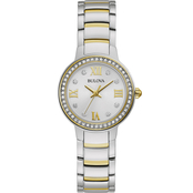Bulova Women's Crystal Two Tone Stainless Steel Watch 98L271