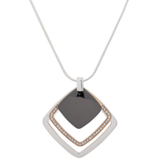 Nine West Tritone Crystal Adjustable Necklace
