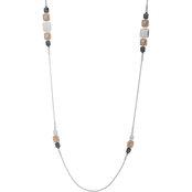 Nine West Tritone Crystal Long Necklace