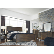 Signature Design by Ashley Kisper Panel Bed 5 pc. Set