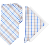 Nautica Pavel Neat Tie and 2 Pocket Squares Set