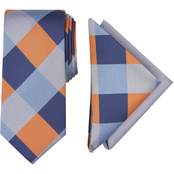 Nautica Jodeco Plaid Tie and 2 Pocket Squares Set
