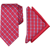 Nautica Haraln Grid Tie and Two Pocket Squares, 3 pc. Set