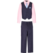 Andrew Fezza Boys Shirt, Pants, Vest and Tie 4 pc. Set