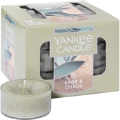 Yankee Candle Sage & Citrus Tea Light Candles 12 pk.