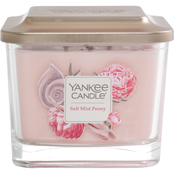 Yankee Candle Salt Mist Peony Medium 3 Wick Square Candle