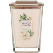 Yankee Candle Elevation Magnolia & Lily Large 2 Wick Square Jar Candle