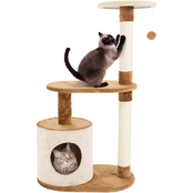 Petmaker Cat Tree Condo 3 Tier with Condo and Scratching Posts