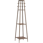 Hillsdale Furniture Crofton Three Shelf Coat Rack