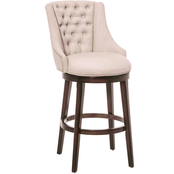 Hillsdale Furniture Halbrooke Upholstered Swivel Barstool